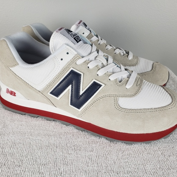 49a2aef028c New Balance 574 Core Plus Grey Navy Sz 11.5